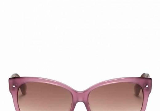 Les lunettes de soleil Dior avec cadre en plastique